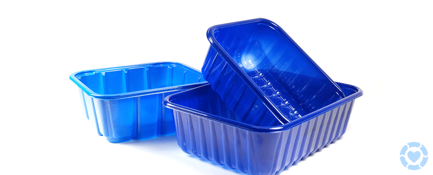 Large Plastic Trays Handles For Trucking Food