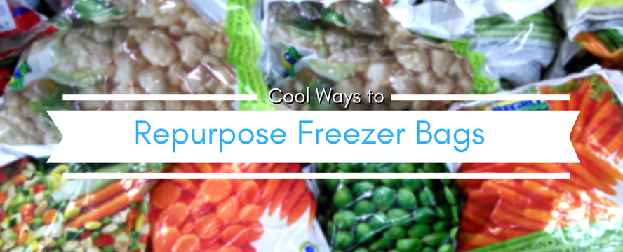 Creative Ways to Repurpose Freezer Plastic Bags (bags from frozen produce) | ecogreenlove