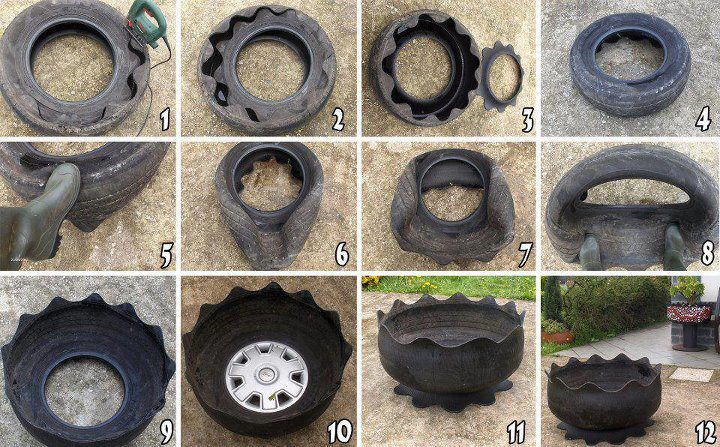 Reusing Old Tires / Tyres | ecogreenlove