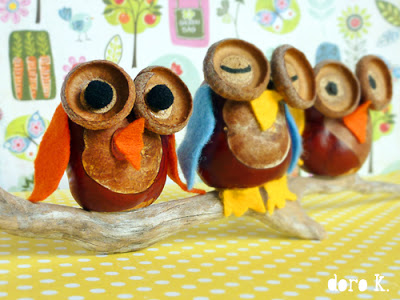 Diy fall decorations with nature ecogreenlove - Acorn and chestnut crafts ...