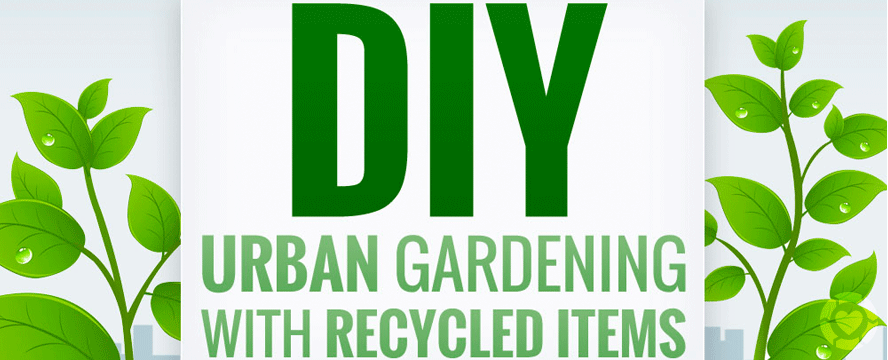 Urban Gardening with Upcycled items [Infographic] | ecogreenlove