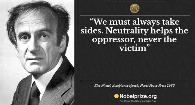 Elie Wiesel - acceptance speech