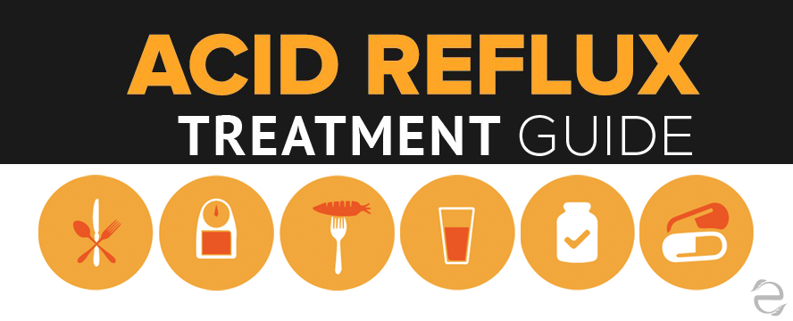 Natural Acid Reflux Treatment guide Infographic | ecogreenlove