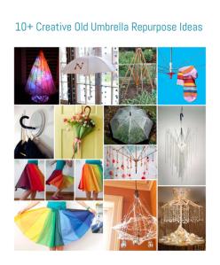 10+ Creative Old Umbrella Repurpose Ideas • Reusing Umbrellas | ecogreenlove