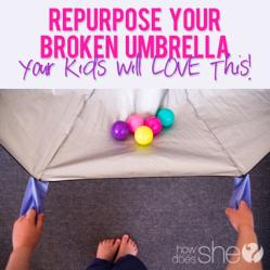 Broken umbrella kids parachute • Reusing Umbrellas | ecogreenlove