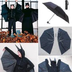 Bat Halloween Costume • Reusing Umbrellas   ecogreenlove
