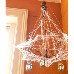 Webbed Chandelier from old umbrella • Reusing Umbrellas | ecogreenlove