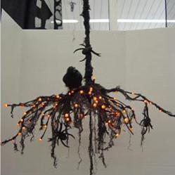 Halloween Chandelier • Reusing Umbrellas | ecogreenlove