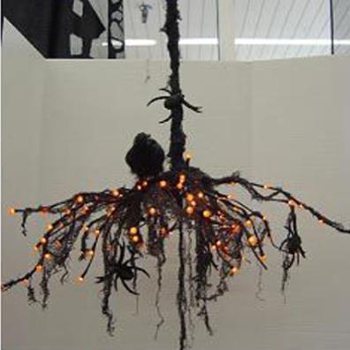 Halloween Chandelier • Reusing Umbrellas   ecogreenlove