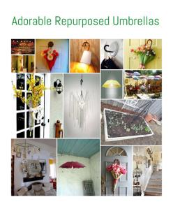 Adorable Repurposed Umbrellas • Reusing Umbrellas | ecogreenlove