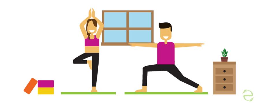Yoga exercises to reduce Stress [Infographic]