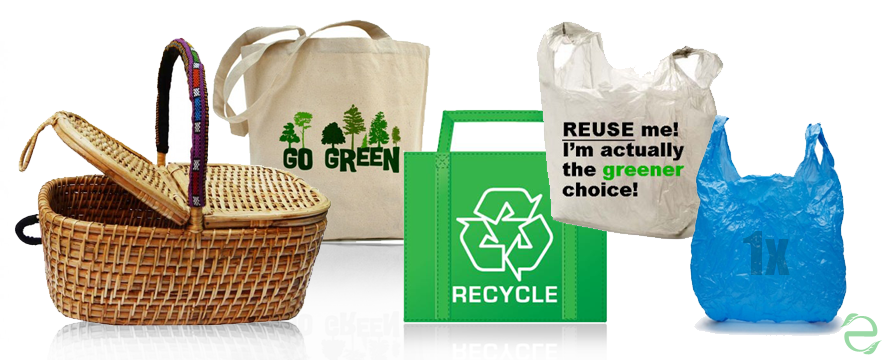 The Most and Least eco-friendly shopping Bags [Infographic] | ecogreenlove