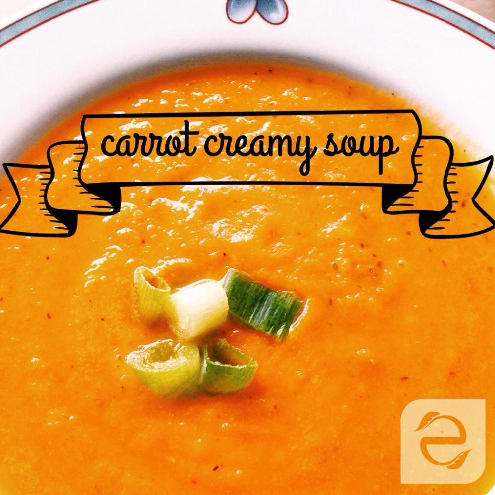 Recipe: Carrot creamy soup (1/2)
