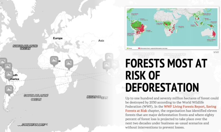 Forests most at Risk of Deforestation [Interactive StoryMap] | ecogreenlove
