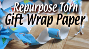 Green Christmas roundup [Ideas to Reuse torn Gift Wrap Paper] | ecogreenlove