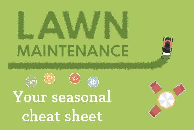 Lawn Maintenance Seasonal Cheat-Sheet [Interactive] | ecogreenlove