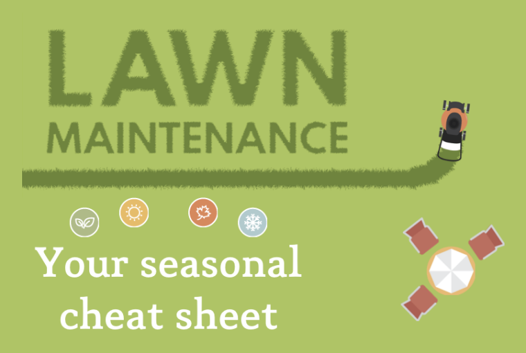 Lawn Maintenance Seasonal Cheat-Sheet [Interactive] | ecogreenlove