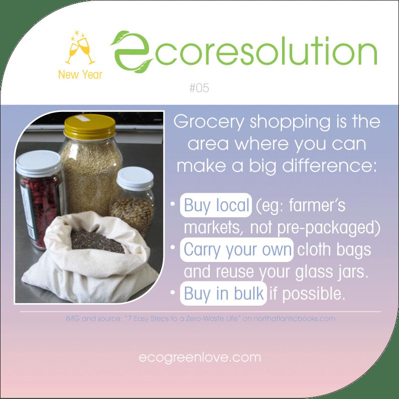 Eco resolutions (shopping) | ecogreenlove