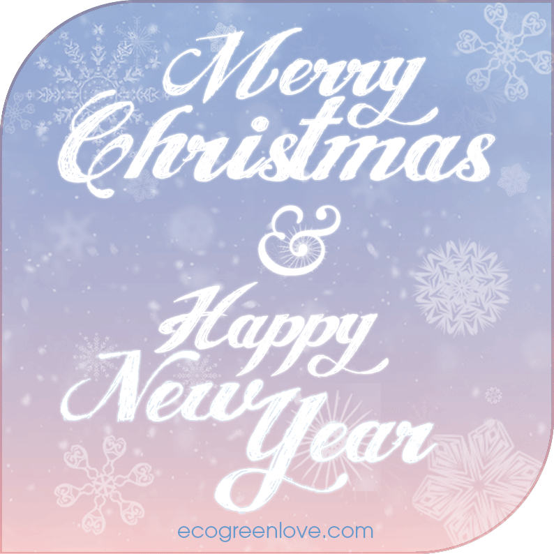 Merry Christmas & Happy New Year | ecogreenlove