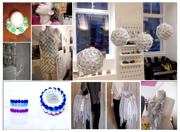Reusing Plastic Pull Tabs • Milchring Austria art project   ecogreenlove
