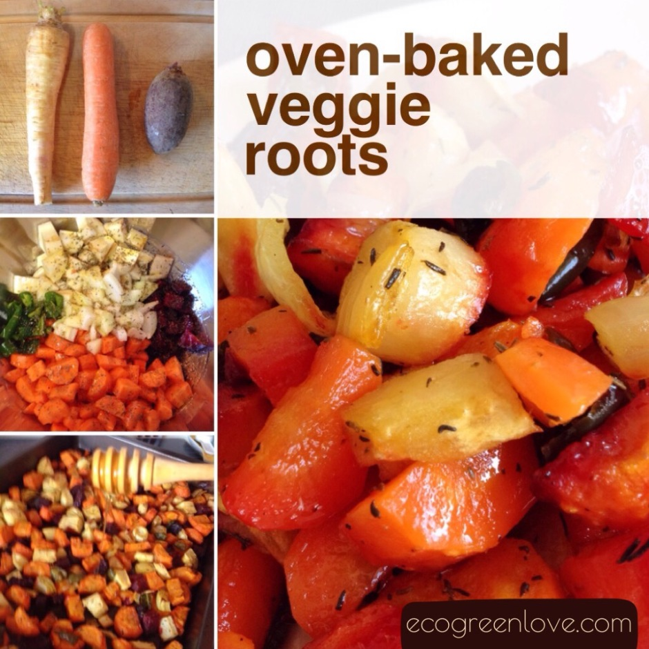 Recipe: Oven-Baked Veggie Roots | ecogreenlove