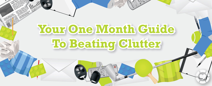 Conquer Clutter in a Month [Infographic] | ecogreenlove