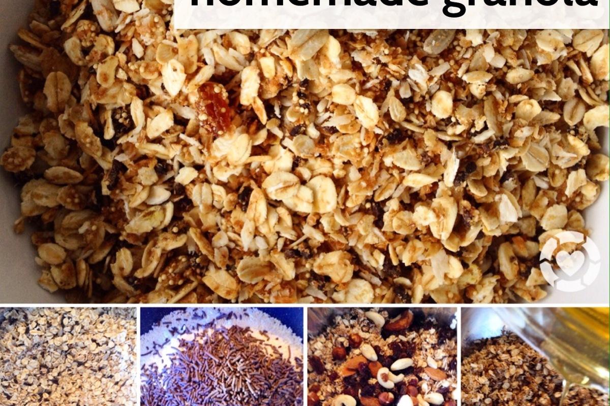 Recipe: Homemade Crunchy Granola | ecogreenlove