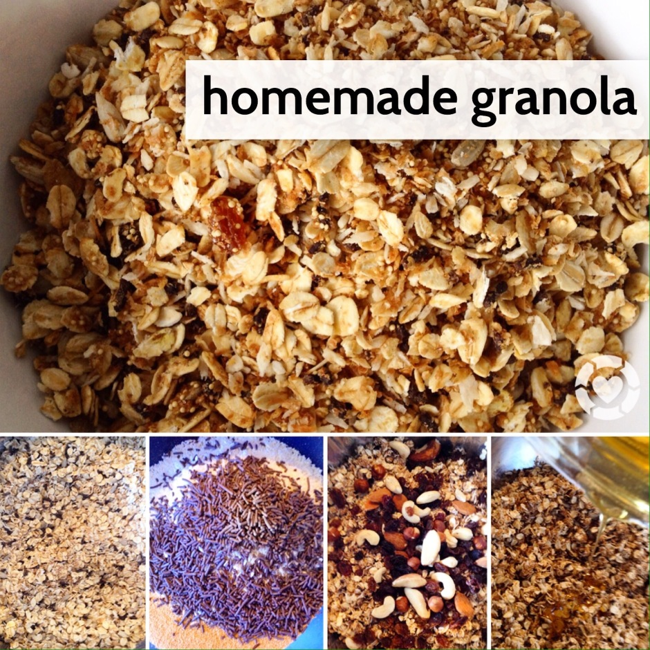 Recipe: Homemade Crunchy Granola | ecogreenlove