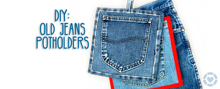 DIY: Upcycled Pot holder from old Jeans [Infographic] | ecogreenlove