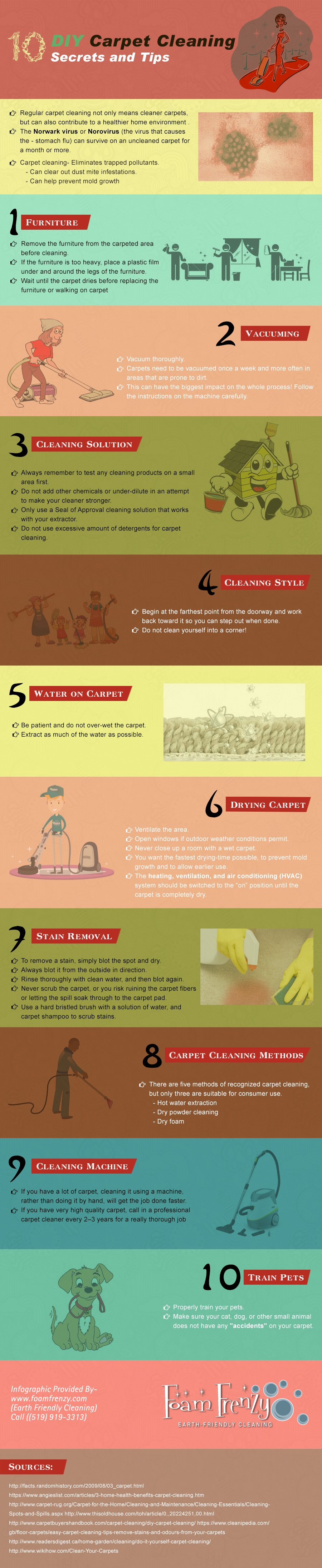 DIY Carpet Cleaning Secrets & Tips (Infographic)   ecogreenlove