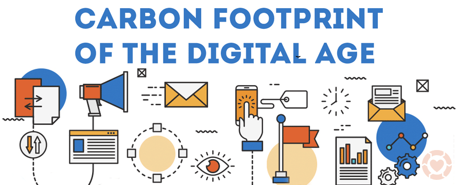 The carbon footprint of the digital age [Infographic] | ecogreenlove