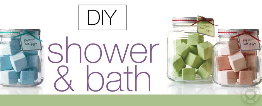DIY Shower & Bath [Recipes Infographic] | ecogreenlove