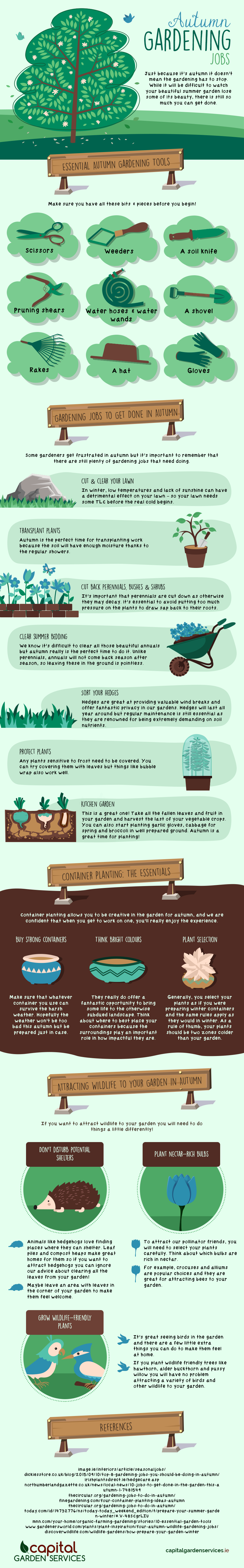 autumn garden jobs infographic