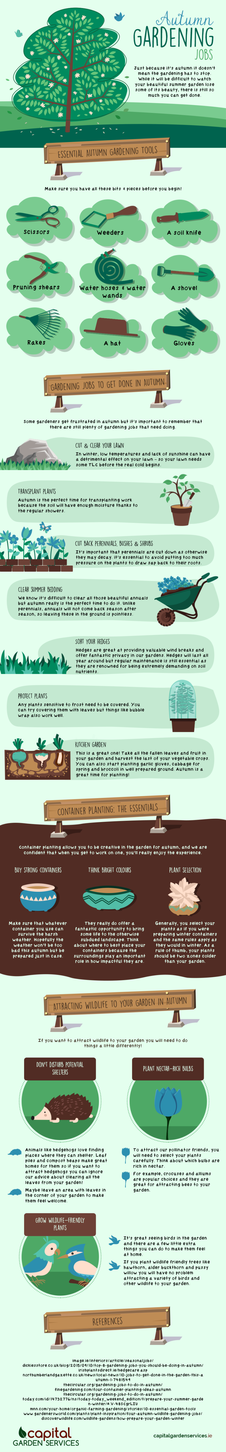 Autumn Gardening Jobs [Infographic] | ecogreenlove