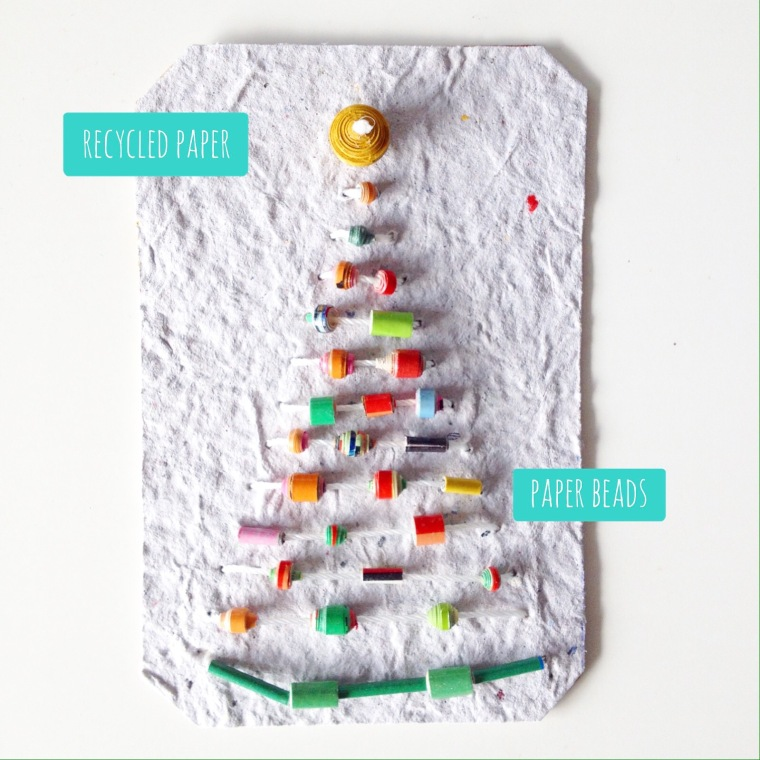 DIY: Recycled Christmas Cards | ecogreenlove