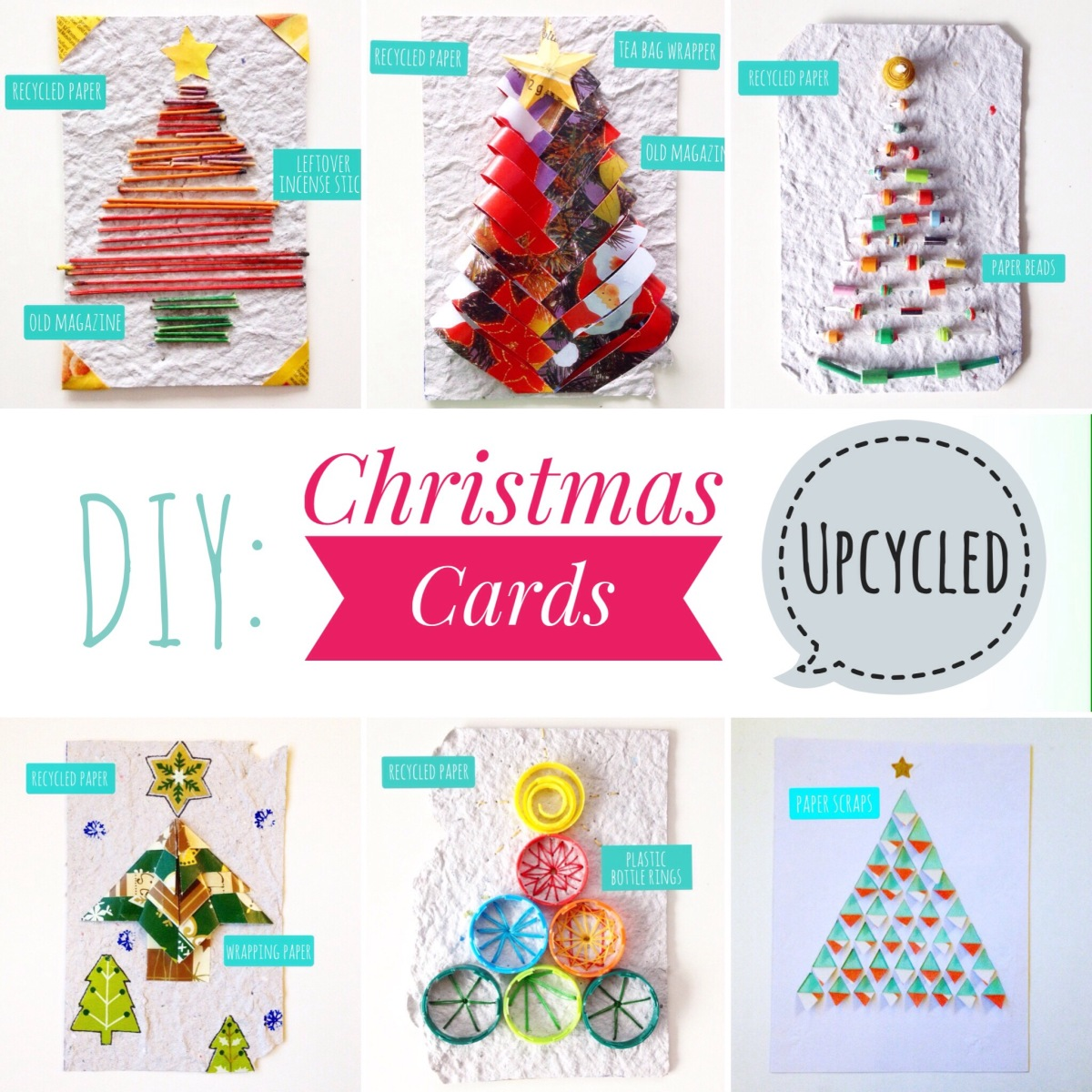 Diy recycled christmas cards ecogreenlove for How to recycle old christmas cards