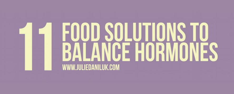 Foods that balance Hormones [Infographic] | ecogreenlove