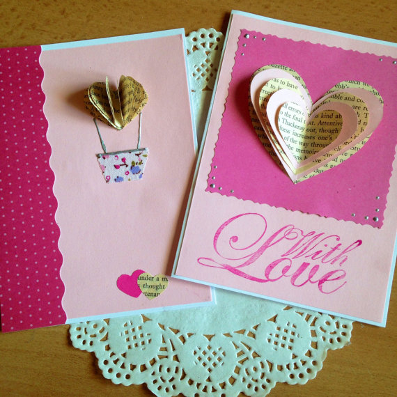 Upcycled Valentine's Cards   ecogreenlove