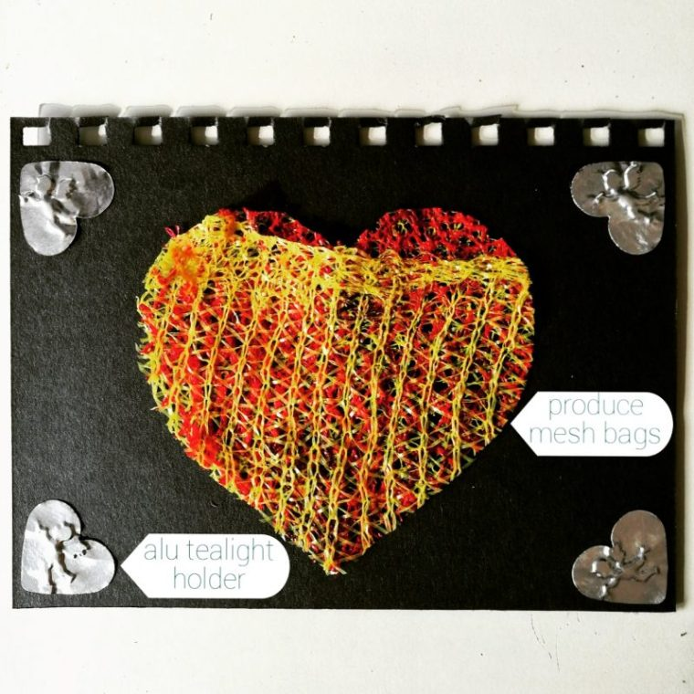 Upcycled Valentine's Cards | ecogreenlove