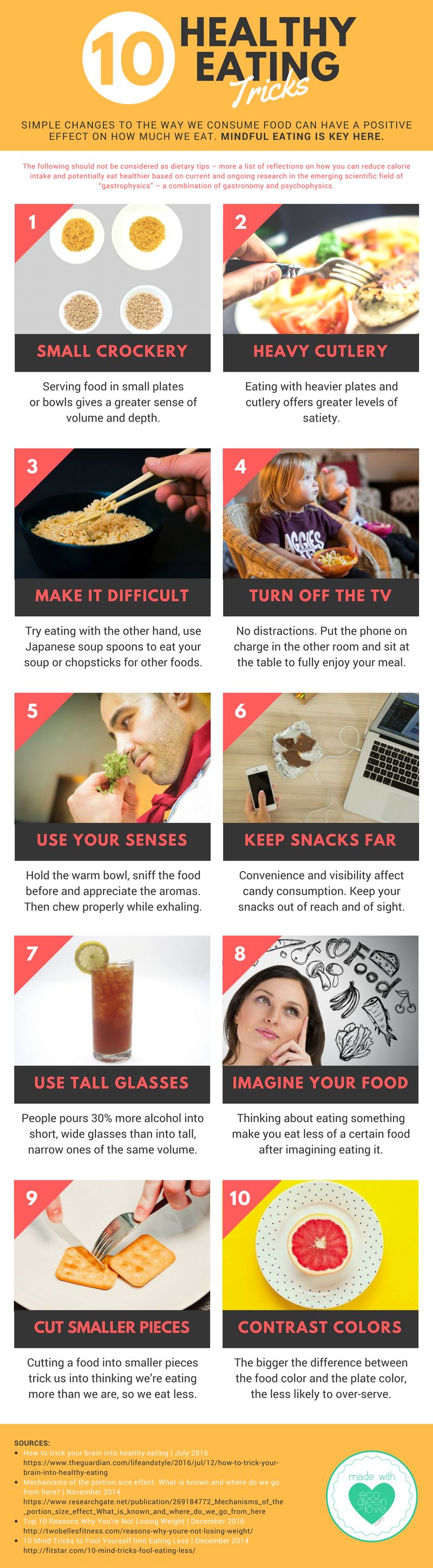 Healthy Eating Tricks [Infographic] | ecogreenlove
