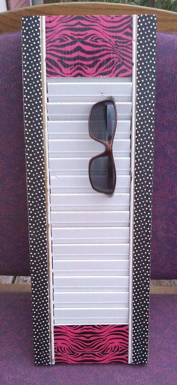 Window shutter as sunglass holder • Creative Ways to Repurpose Eyeglasses   ecogreenlove