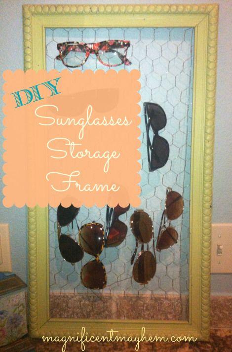 Sunglasses holder frame • Creative Ways to Repurpose Eyeglasses   ecogreenlove