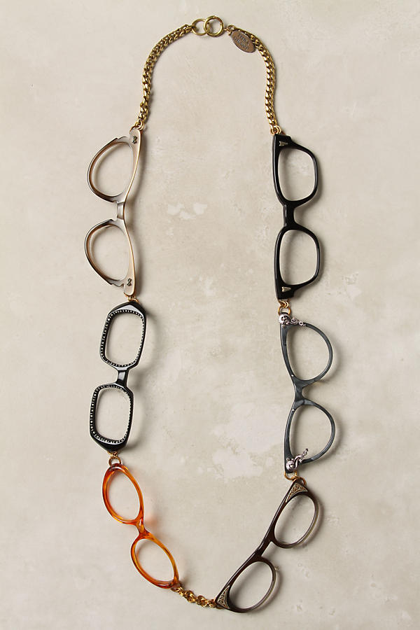 Specs necklace • Creative Ways to Repurpose Eyeglasses   ecogreenlove