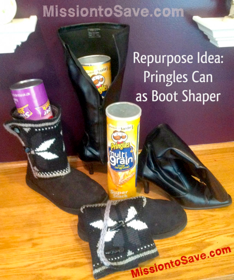 Boot shapers • Creative Ways to Repurpose Pringles can tubes | ecogreenlove