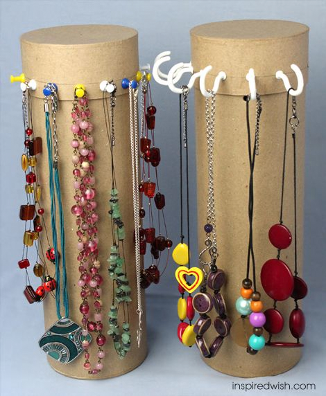 Necklace stand • Creative Ways to Repurpose Pringles tube cans | ecogreenlove