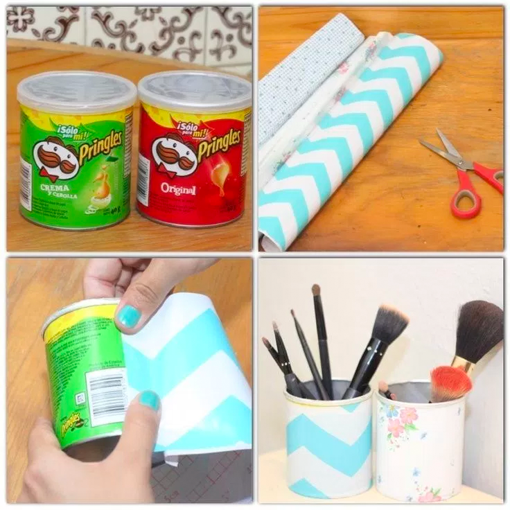DIY: Pringles Brush holder • Creative Ways to Repurpose Pringles can tubes | ecogreenlove