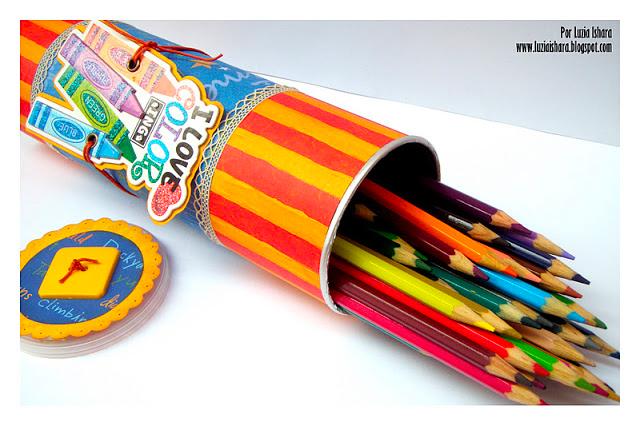 Pencil holder • Creative Ways to Repurpose Pringles tube cans | ecogreenlove