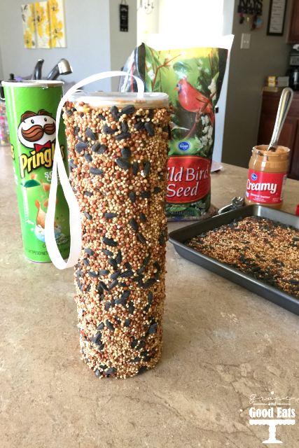 Bird seed feeder • Creative Ways to Repurpose Pringles can tubes | ecogreenlove
