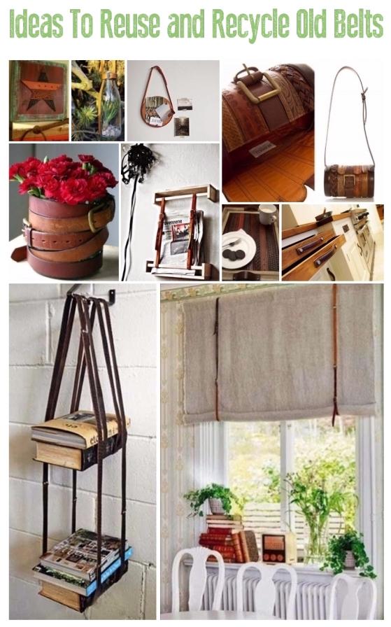 Creative Ways to Repurpose old Belts | ecogreenlove