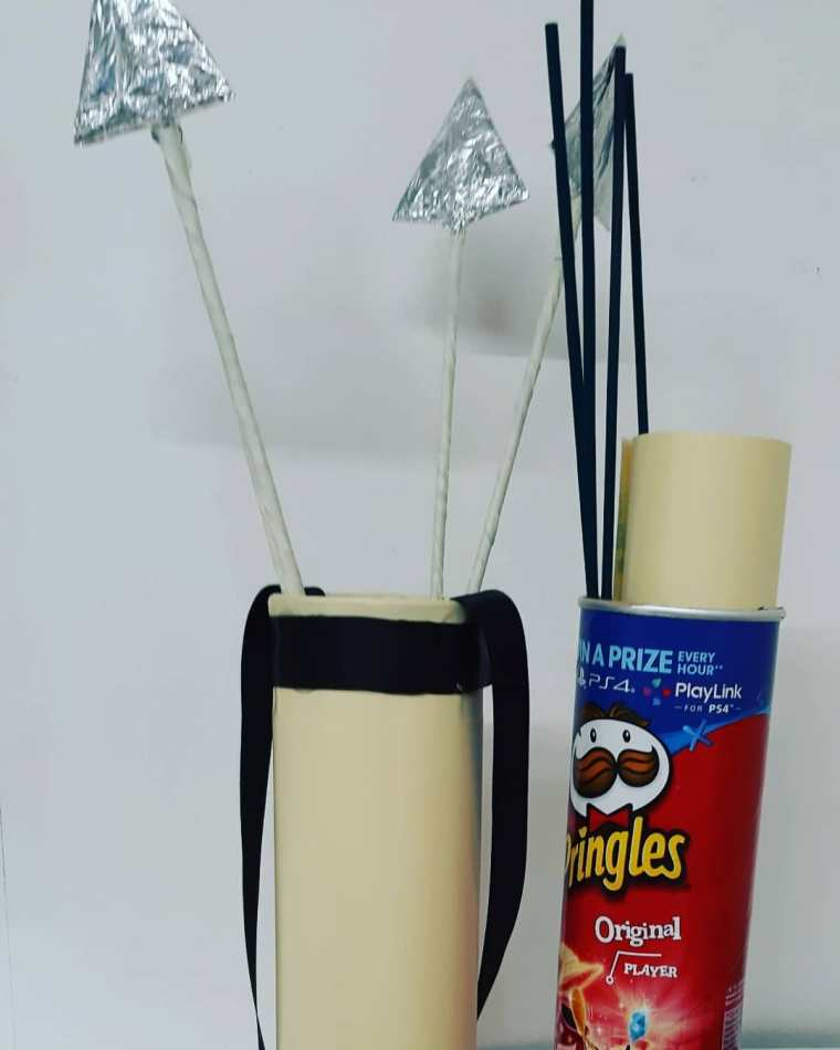 bow and arrow Quiver • Creative Ways to Repurpose Pringles can tubes   ecogreenlove